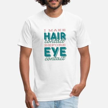 Hairstyle Hair stylist hairdresser funny quote lettering - Unisex Poly Cotton T-Shirt