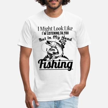 Fish Head Clothing Fishing Shirt - In My Head I Am Fishing T Shirt - Unisex Poly Cotton T-Shirt