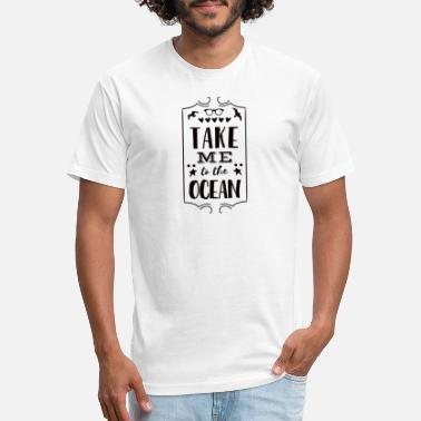 Take me to the Ocean - Unisex Poly Cotton T-Shirt