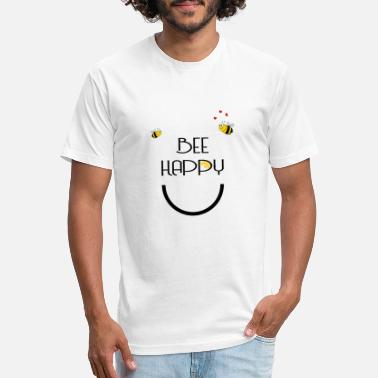 Swarm Bee Happy Bees black - Unisex Poly Cotton T-Shirt