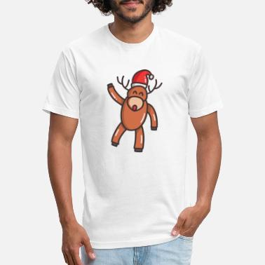 Christmas Reindeer - Unisex Poly Cotton T-Shirt