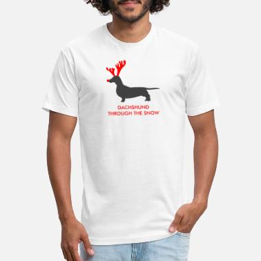 Snow Dachshund Through The Snow - Unisex Poly Cotton T-Shirt