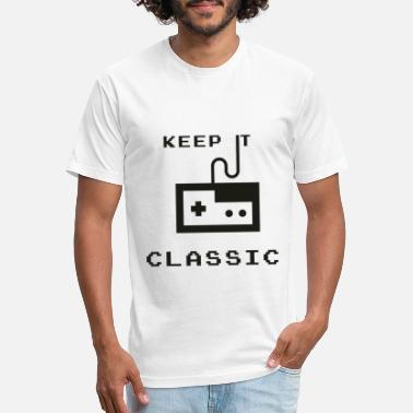 Old Games Game. Classic. Old school. - Unisex Poly Cotton T-Shirt