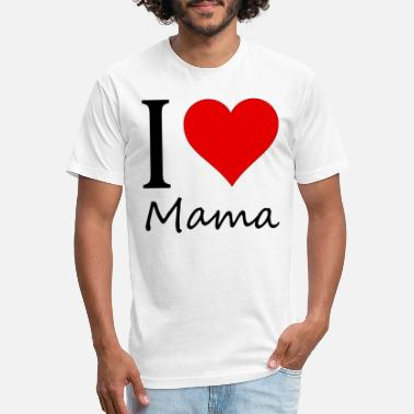 I Love Mama I love Mama - Unisex Poly Cotton T-Shirt