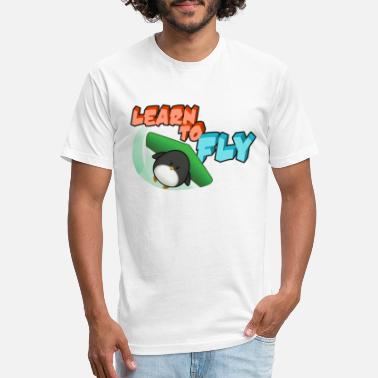 Learn Learn to Fly - Unisex Poly Cotton T-Shirt