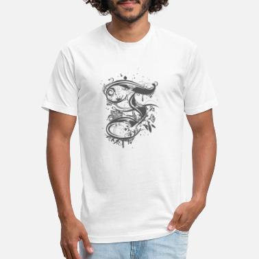 Calligraphic Calligraphy letter F - Unisex Poly Cotton T-Shirt
