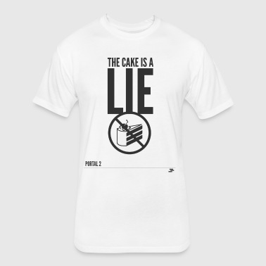 Warning: the cake is a lie - Fitted Cotton/Poly T-Shirt by Next Level