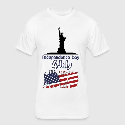 independence day 4 july - Fitted Cotton/Poly T-Shirt by Next Level