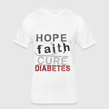 Hope Faith Cure Spreadshi - Fitted Cotton/Poly T-Shirt by Next Level