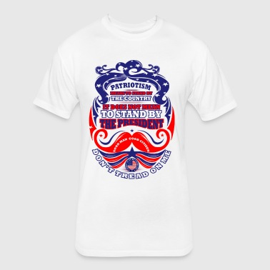 PATRIOTISM: Don't Tread on Me! - Fitted Cotton/Poly T-Shirt by Next Level
