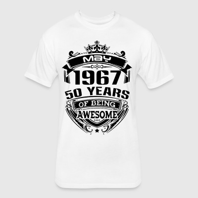 may 1967 50 years - Fitted Cotton/Poly T-Shirt by Next Level