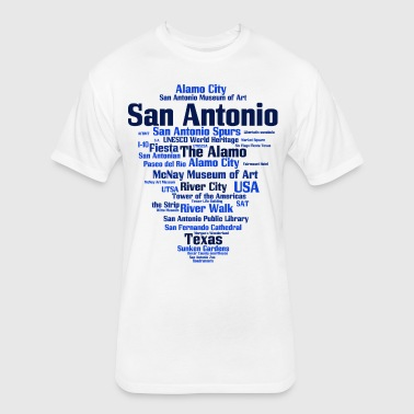 San Antonio (Texas, USA, Alamo City, River City) - Fitted Cotton/Poly T-Shirt by Next Level