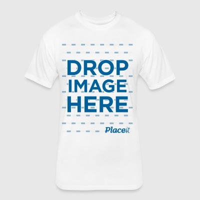 DROP IMAGE HERE - Placeit Design - Fitted Cotton/Poly T-Shirt by Next Level