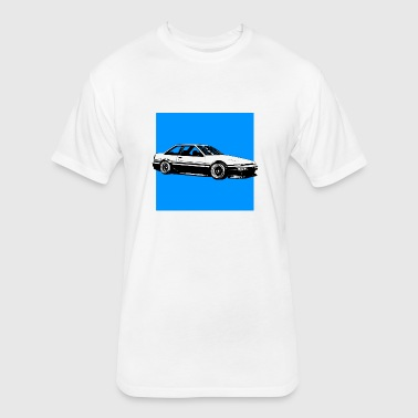 Toyota AE86 (background) - Fitted Cotton/Poly T-Shirt by Next Level