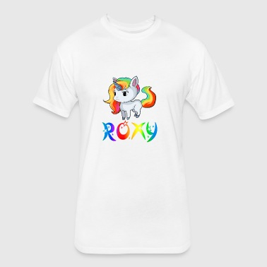 Roxy Unicorn - Fitted Cotton/Poly T-Shirt by Next Level