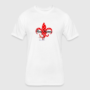 Christmas Fleur De Lis - Fitted Cotton/Poly T-Shirt by Next Level
