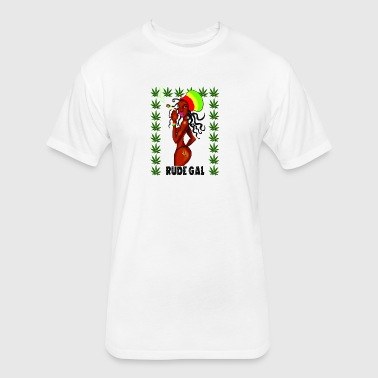 Rude Gal - Fitted Cotton/Poly T-Shirt by Next Level