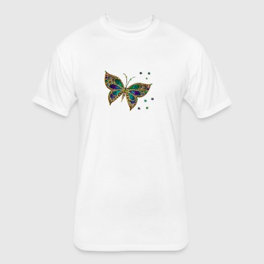 butterf 512 - Fitted Cotton/Poly T-Shirt by Next Level