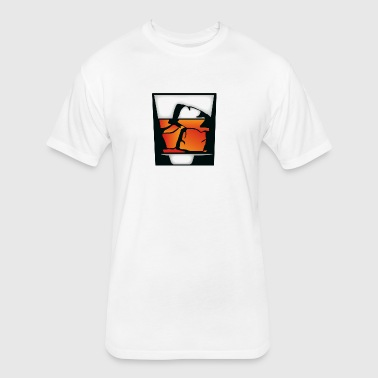 Tumbler Of Whiskey And Ice Cubes - Fitted Cotton/Poly T-Shirt by Next Level