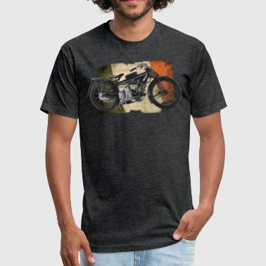 Vintage Italian Motorcycle Moto Guzzi - Fitted Cotton/Poly T-Shirt by Next Level