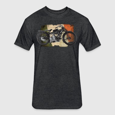 Moto Guzzi - Fitted Cotton/Poly T-Shirt by Next Level