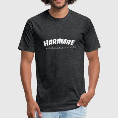 Harambe rest in peace - Fitted Cotton/Poly T-Shirt by Next Level