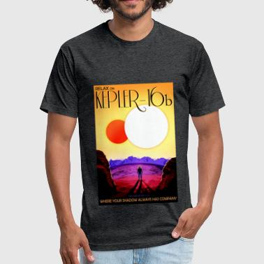 Kepler16b - Fitted Cotton/Poly T-Shirt by Next Level