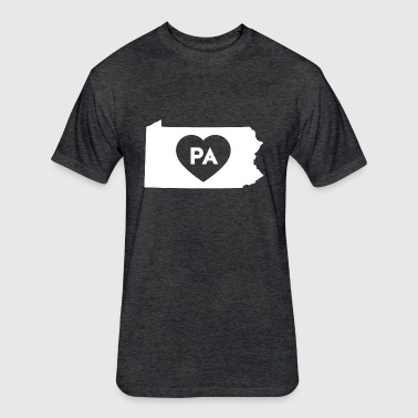 I Love Pennsylvania State - Fitted Cotton/Poly T-Shirt by Next Level