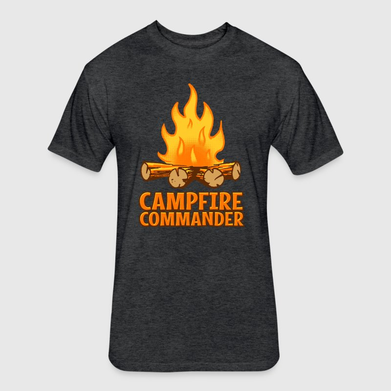 Campfire Commander - Fitted Cotton/Poly T-Shirt by Next Level