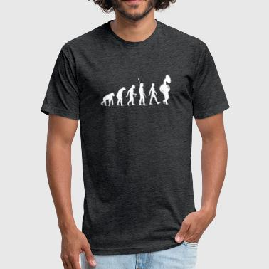 Funny Tuba Evolution of Tuba Funny Tuba T-Shirt - Fitted Cotton/Poly T-Shirt by Next Level