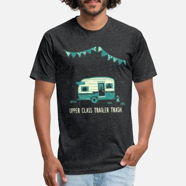 Upper Upper Class Trailer Trash, funny RV trailer design - Unisex Poly Cotton T-Shirt