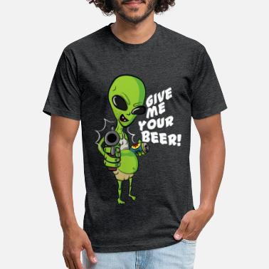 Skruril Give me your beer! - Unisex Poly Cotton T-Shirt