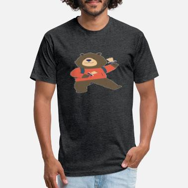 Cheerful Cheerful bear - Unisex Poly Cotton T-Shirt