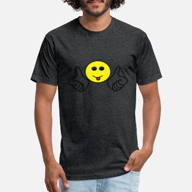 smiley3 - Unisex Poly Cotton T-Shirt