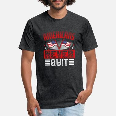 Patriot Day Americans Never Quit - Unisex Poly Cotton T-Shirt
