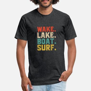 Wake wake lake boat surf - Unisex Poly Cotton T-Shirt