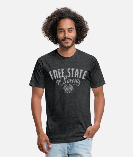 Free State T-Shirts - Free State of Saxony - Unisex Poly Cotton T-Shirt heather black