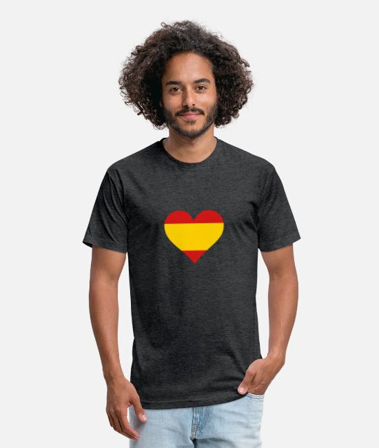 Don Quijote T-Shirts - A Heart For Spain - Unisex Poly Cotton T-Shirt heather black