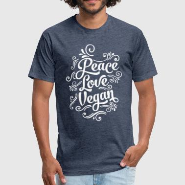 Love Peace Vegan - Fitted Cotton/Poly T-Shirt by Next Level