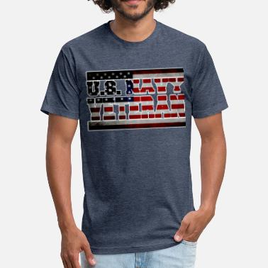 Military--big-tall veteran-white.png - Fitted Cotton/Poly T-Shirt by Next Level