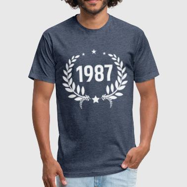 Born-in-1987 Born in 1987 - Fitted Cotton/Poly T-Shirt by Next Level
