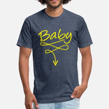 Funny Baby Baby bely Funny Baby - Fitted Cotton/Poly T-Shirt by Next Level