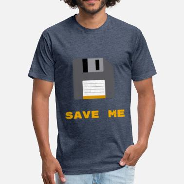 Throwback Symbol Save Me | Oldskool Floppy Disk - Fitted Cotton/Poly T-Shirt by Next Level
