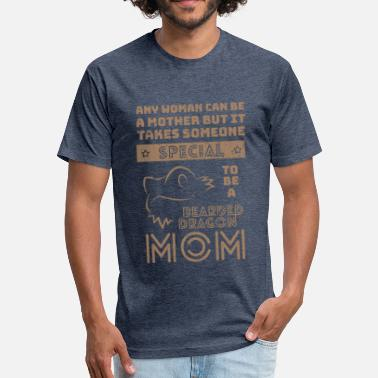 Lover - bearded dragon mom shirt - Fitted Cotton/Poly T-Shirt by Next Level