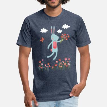 Jumping Rabbit Be Hoppy Jumping Rabbit - Fitted Cotton/Poly T-Shirt by Next Level