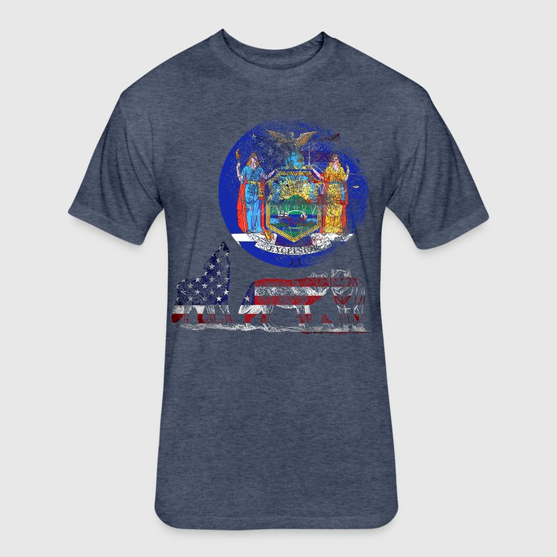 WOLF PACK NEW YORK - Fitted Cotton/Poly T-Shirt by Next Level