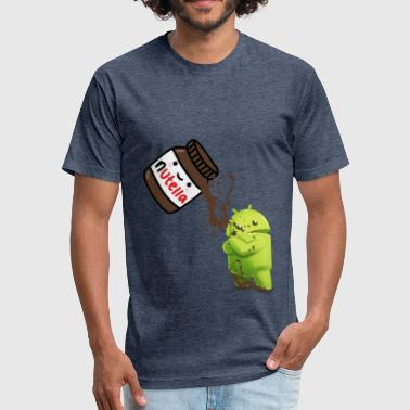 Android 7 N Nutella - Fitted Cotton/Poly T-Shirt by Next Level