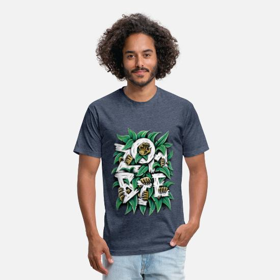 Collection T-Shirts - ZOMBIE - Unisex Poly Cotton T-Shirt heather navy