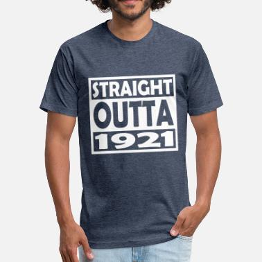 1921 96th Birthday T Shirt Straight Outta 1921 - Unisex Poly Cotton T-Shirt