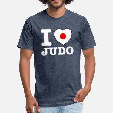 Japan Judo I Love judo japan design - Fitted Cotton/Poly T-Shirt by Next Level
